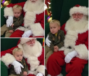 That time we went to meet Santa and I ended up in my bra