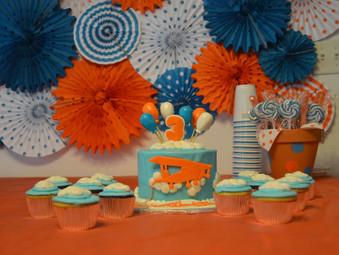 Kaleb's 3rd Birthday Party {airplane rides edition}