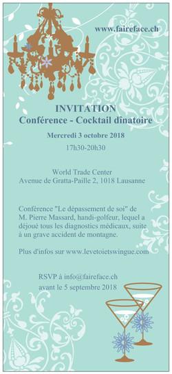 2018 Invitation cocktail Faire Face