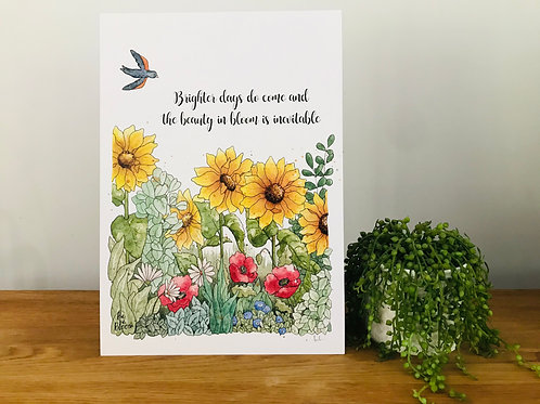 Limited Edition - Be and Bloom Art Print