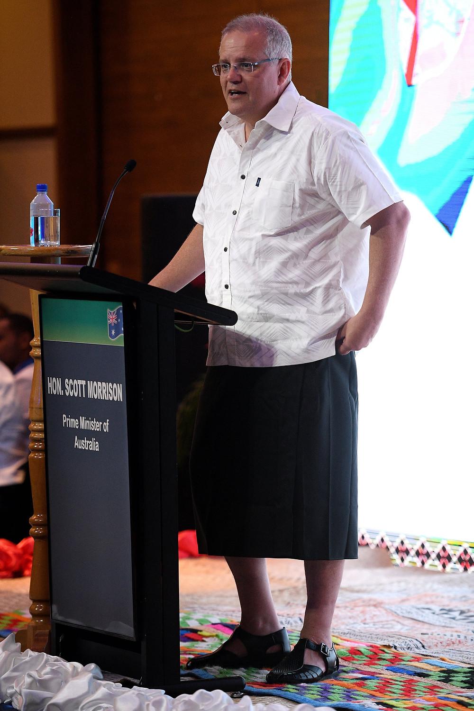 PM Morrison, speaking in Fiji in January 2019