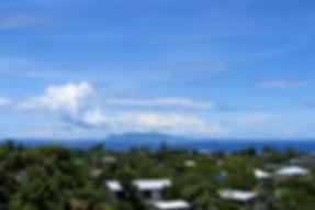 View of Savo Island from Honiara, Solomo