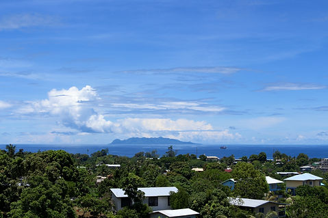 View of Savo Island from Honiara, Solomo