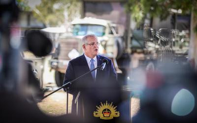 PM Morrison making his Pacific announcement, 8 Nov 2018. Photo: www.pm.gov.au