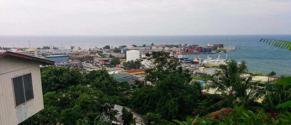 Looking across Honiara to the port