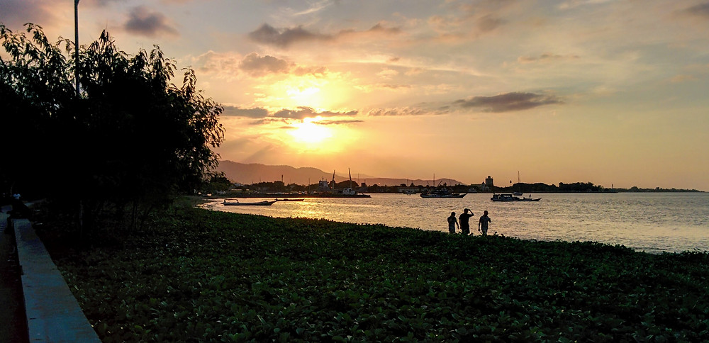 Sunset over the water, Dili, Timor Leste