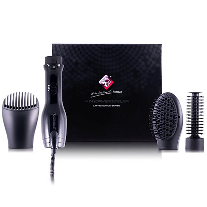 4-in-1 Interchangeable Blower Brush Set with Volumizing, Straightening, and Curl