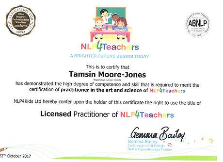 My NLP For Teachers Certificate