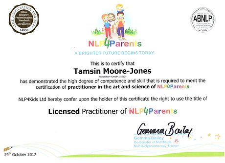 My NLP For Parents Certificate