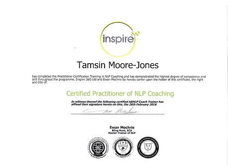 My NLP Coaching Certificate