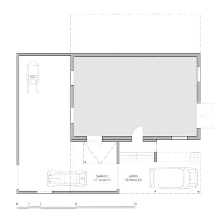 Plan projeté du rez-de-chaussée
