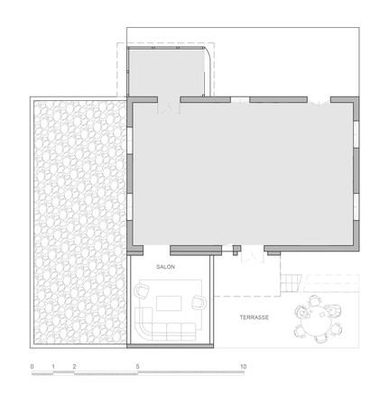 Plan projeté de toiture