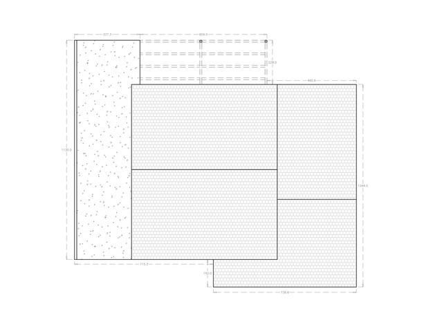 Plan projeté de la toiture