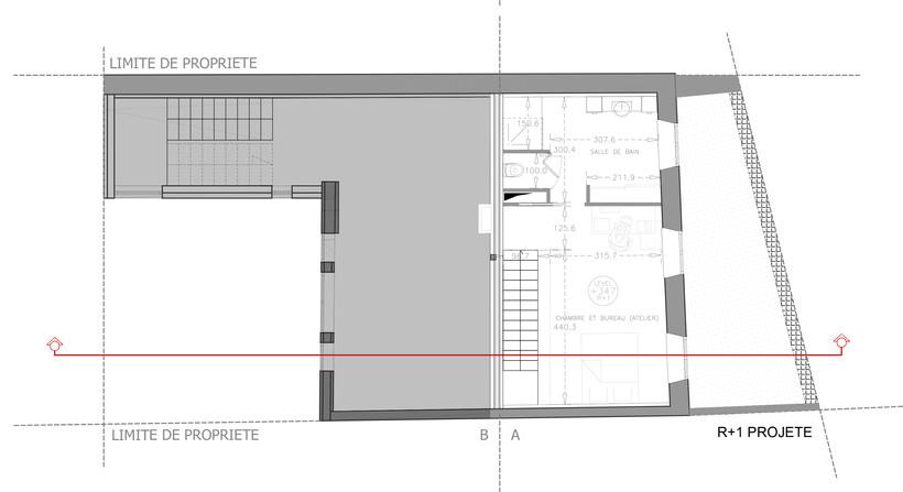 Plan projeté premier étage