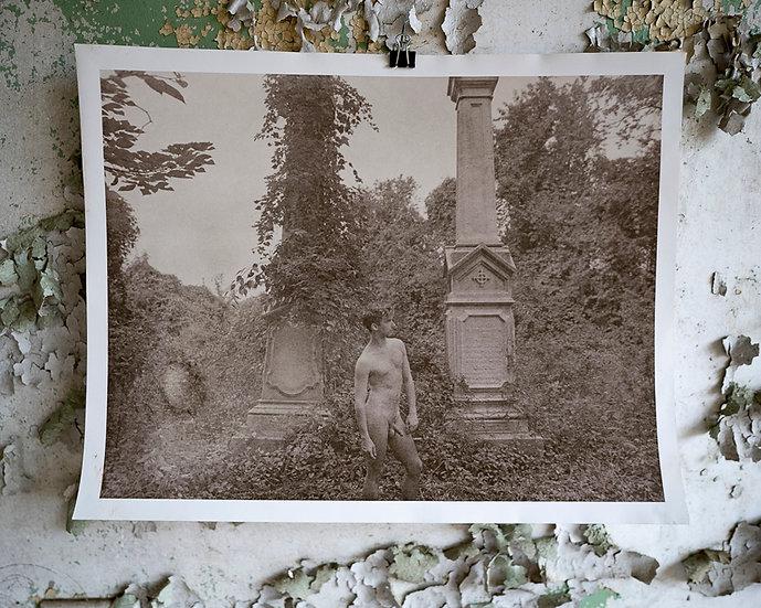 Overgrown Cemetery Nude