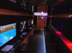 stadium seating and laser light show