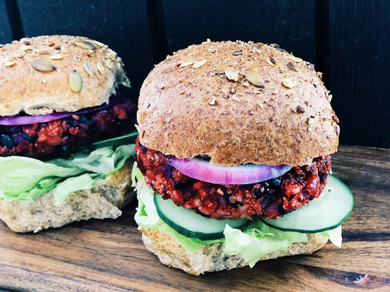 The Perfect Plant-Based Beetroot & Black Bean Burger