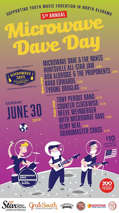2019 MICROWAVE DAVE DAY POSTER