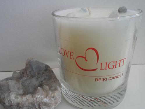 Celestite Crystal Candle