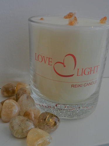 Citrine Crystal Candle