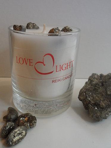 Pyrite Reiki Candle