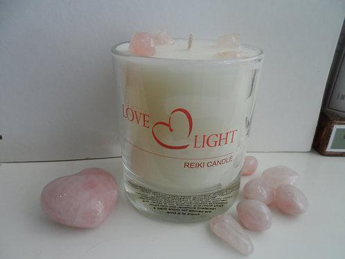 Rose Quartz Crystal Candle