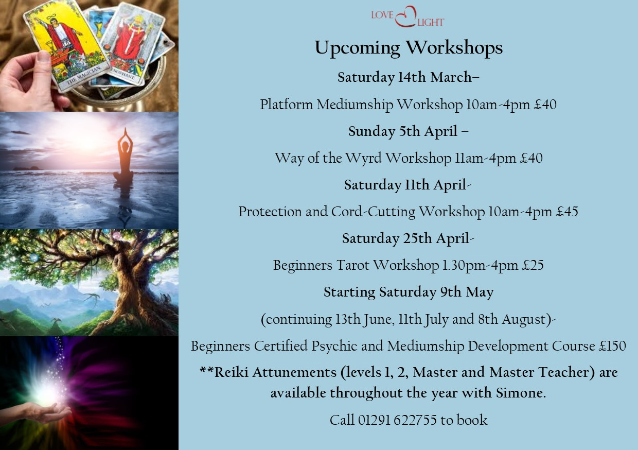 upcoming courses and Workshops
