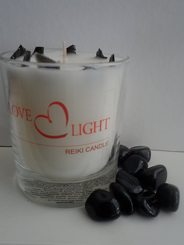 Black Obsidian Candle