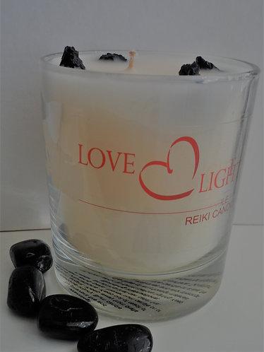 Black Tourmaline Crystal Candle