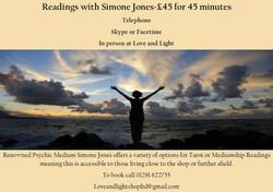 Simone Readings poster
