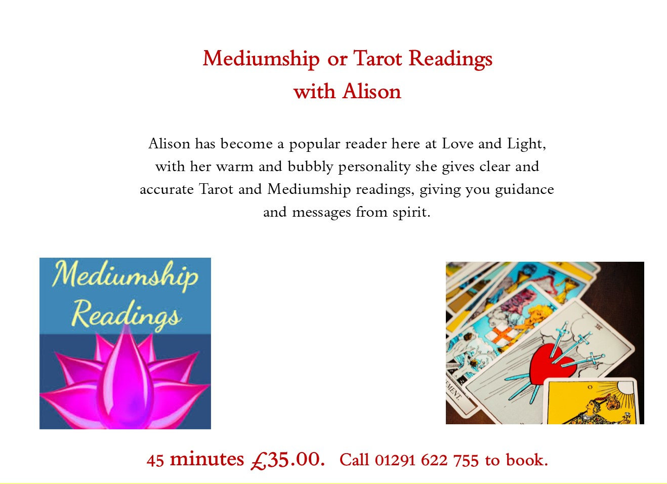 Mediumship readings with Alison