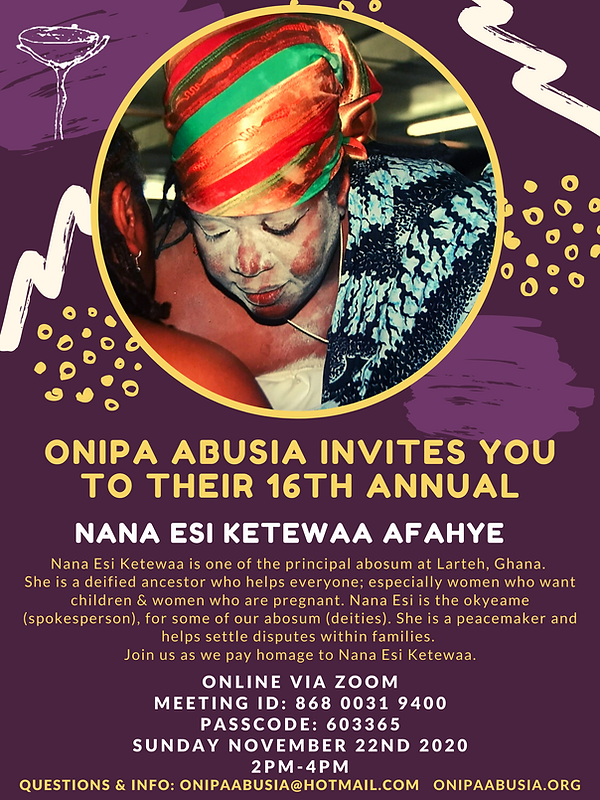 ONIPA ABUSIA INVITES YOU TO THEIR 16th A