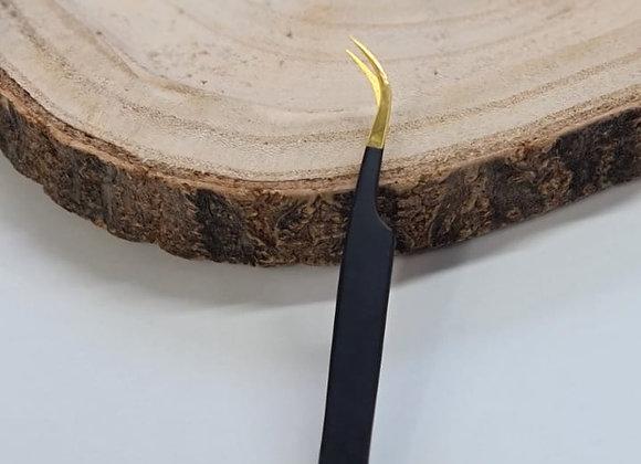 Volumen Pinzette Curvy schwarz/gold