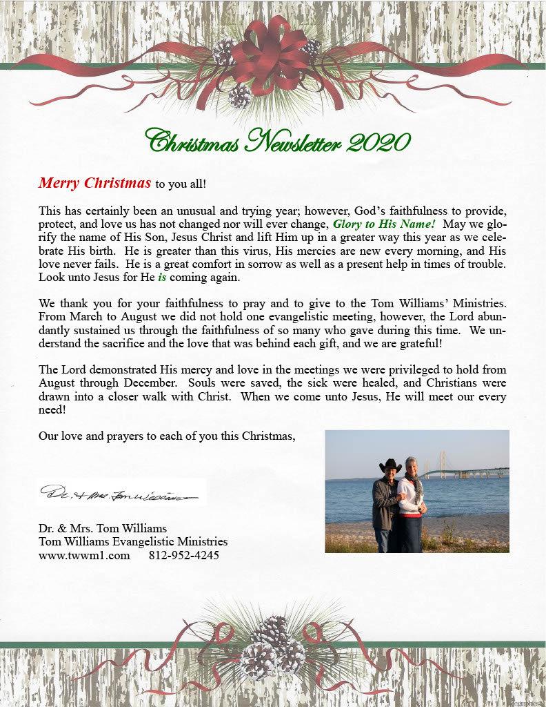 Christmas ministry newsletter 2020  smal