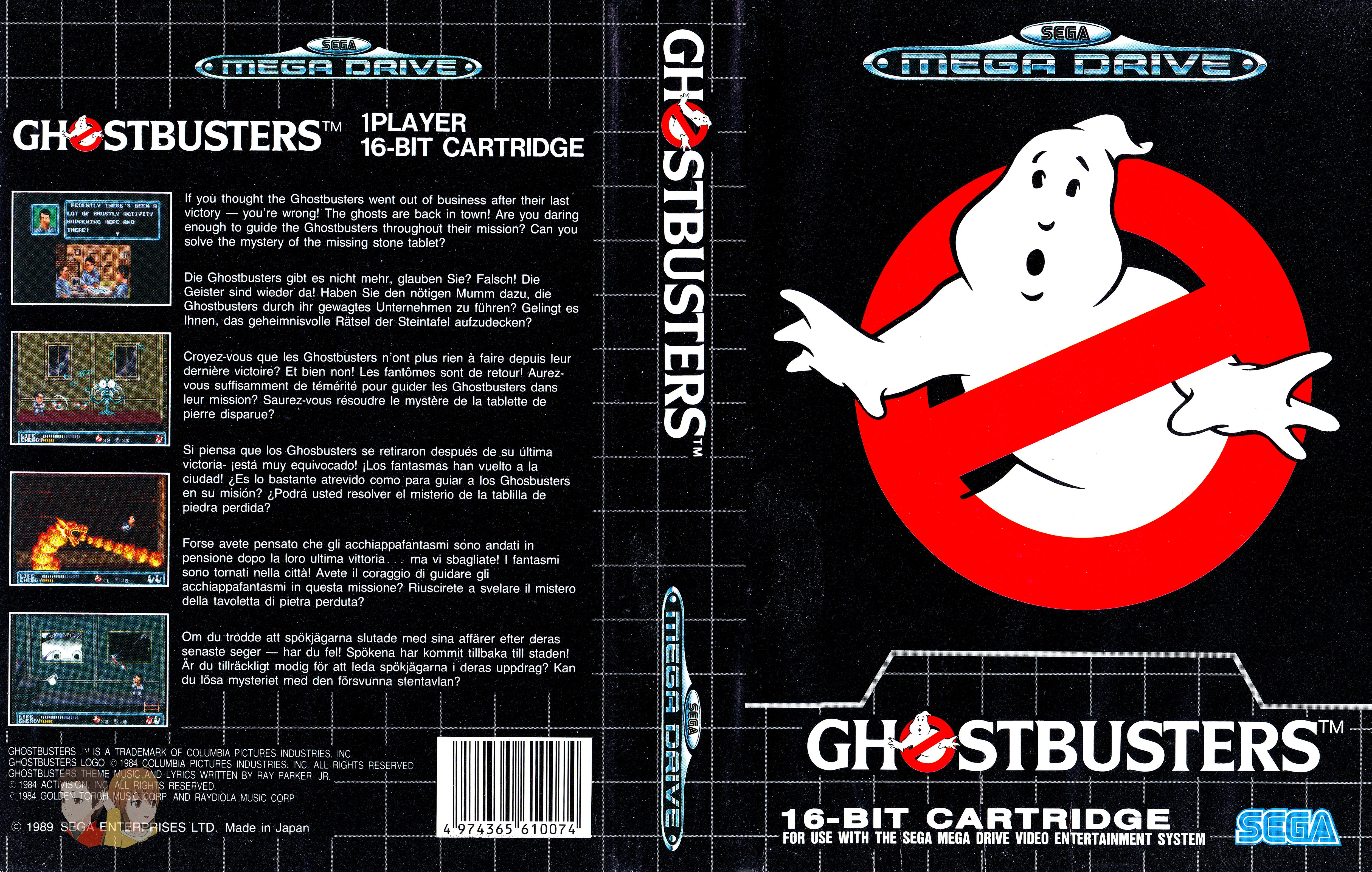 MEGADRIVE--Jaquette---Ghostbuster---FR