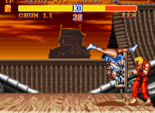 super street fighter 2 test player one e