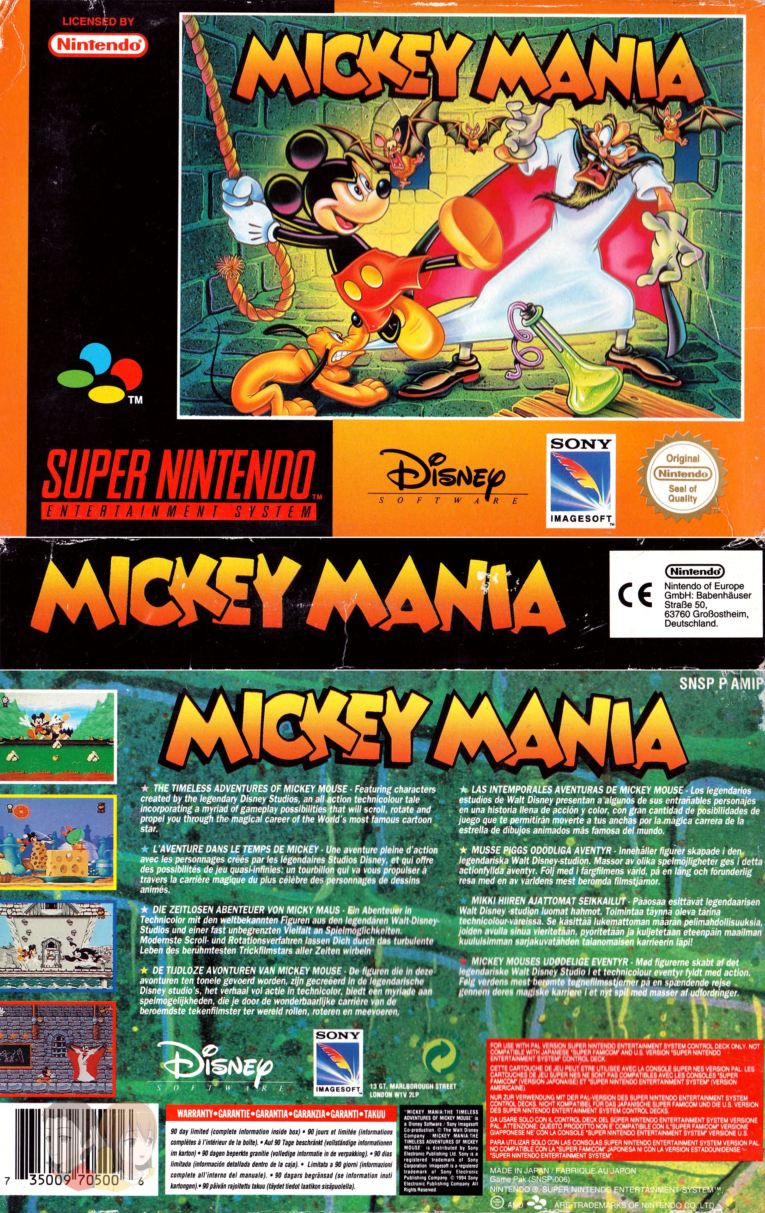 SNES--Jaquette---Mickey-mania----FR