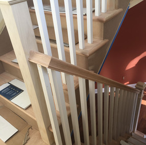 Stairs during