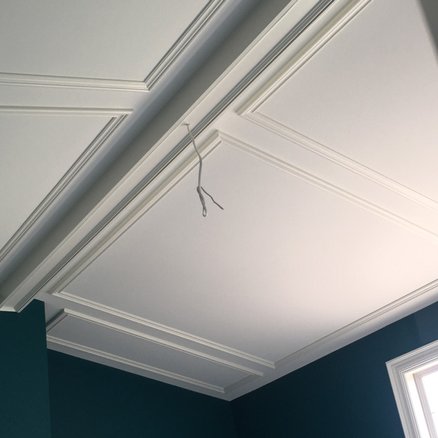 Ceiling beam and panels