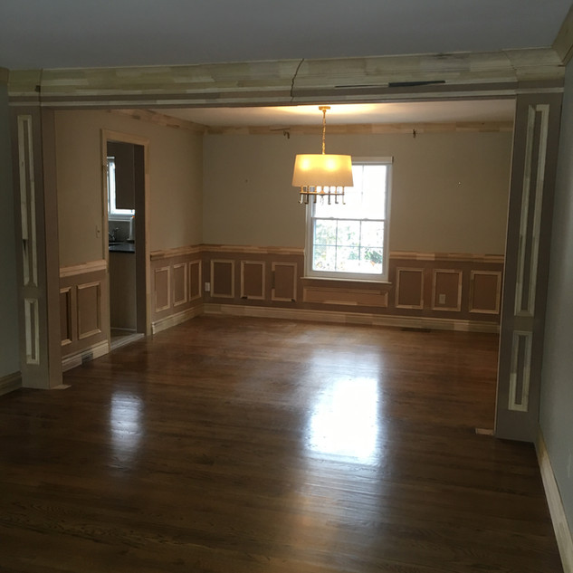 Trim Arch and wainscoting