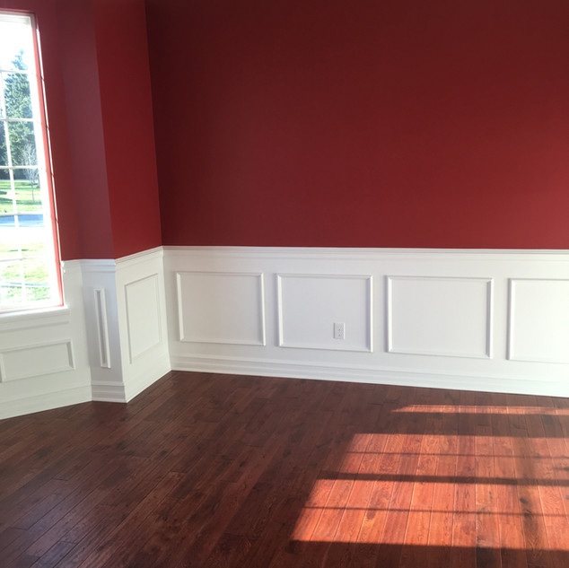 wainscoting(shadow boxes)