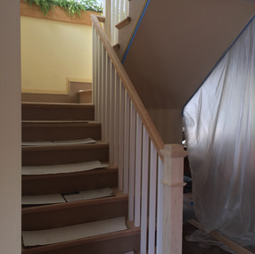 Stairs during project