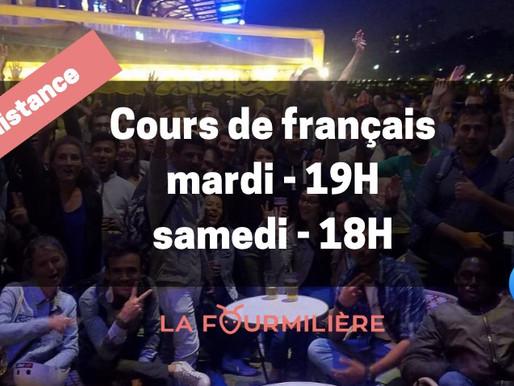 Cours de français à distance pour les migrants