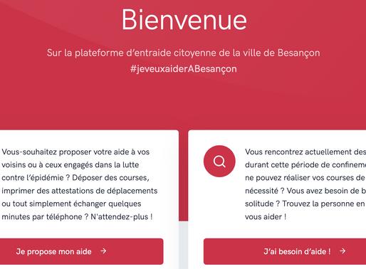 Une plateforme d'entraide  par la mairie de Besançon