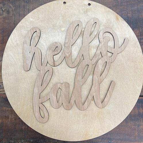 Hello fall circle design