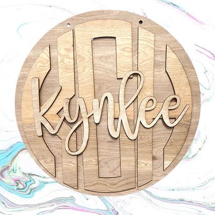 Triple Layer Monogram/Name/Round