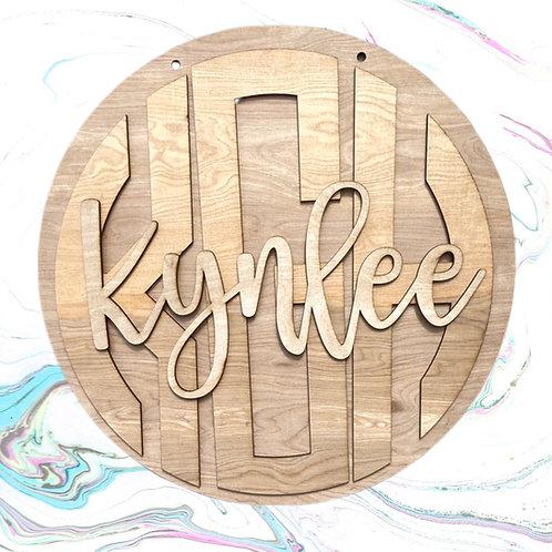 3 layer name/monogram