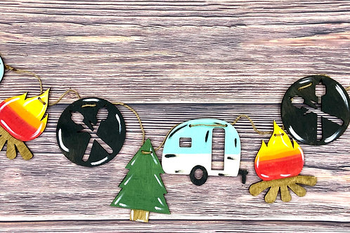 Wholesale camper wooden garland