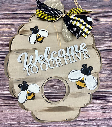 Beehive Welcome-UNPAINTED