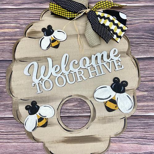 Beehive Welcome-UNPAINTED